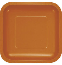 Touch of Color PUMPKIN SPICE ORANGE SQUARE DESSERT PLATES
