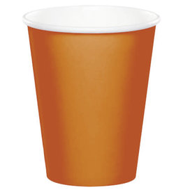 Touch of Color PUMPKIN SPICE ORANGE CUPS 9OZ