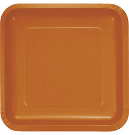 Touch of Color SQUAER PUMPKIN SPICE DINNER PAPER PLATES