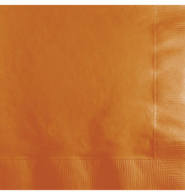 Touch of Color PUMPKIN SPICE ORANGE BEVERAGE NAPKINS