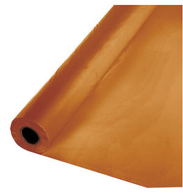 Touch of Color PUMPKIN SPICE ORANGE PLASTIC BANQUET ROLL