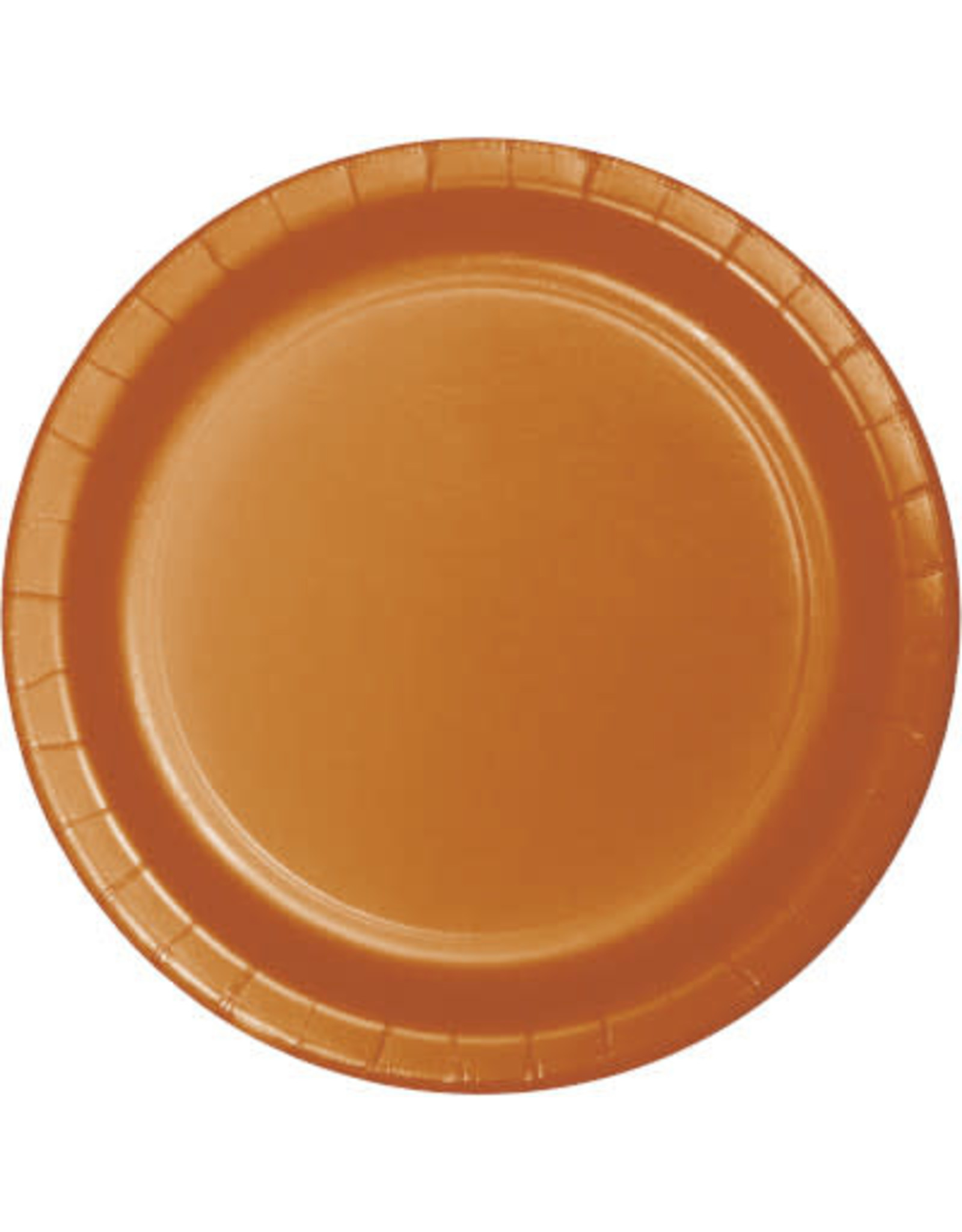 "Touch of Color 10"" Pumpkin Spice Paper Banquet Plate"