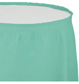 Touch of Color FRESH MINT GREEN PLASTIC TABLESKIRT