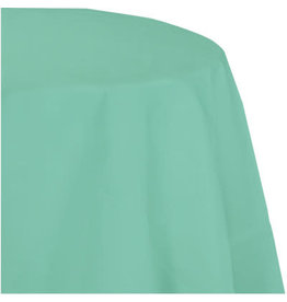 Touch of Color FRESH MINT GREEN OCTY ROUND PAPER TABLECLOTH