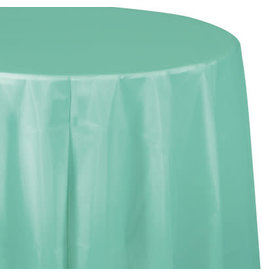 Touch of Color FRESH MINT GREEN ROUND PLASTIC TABLECLOTH