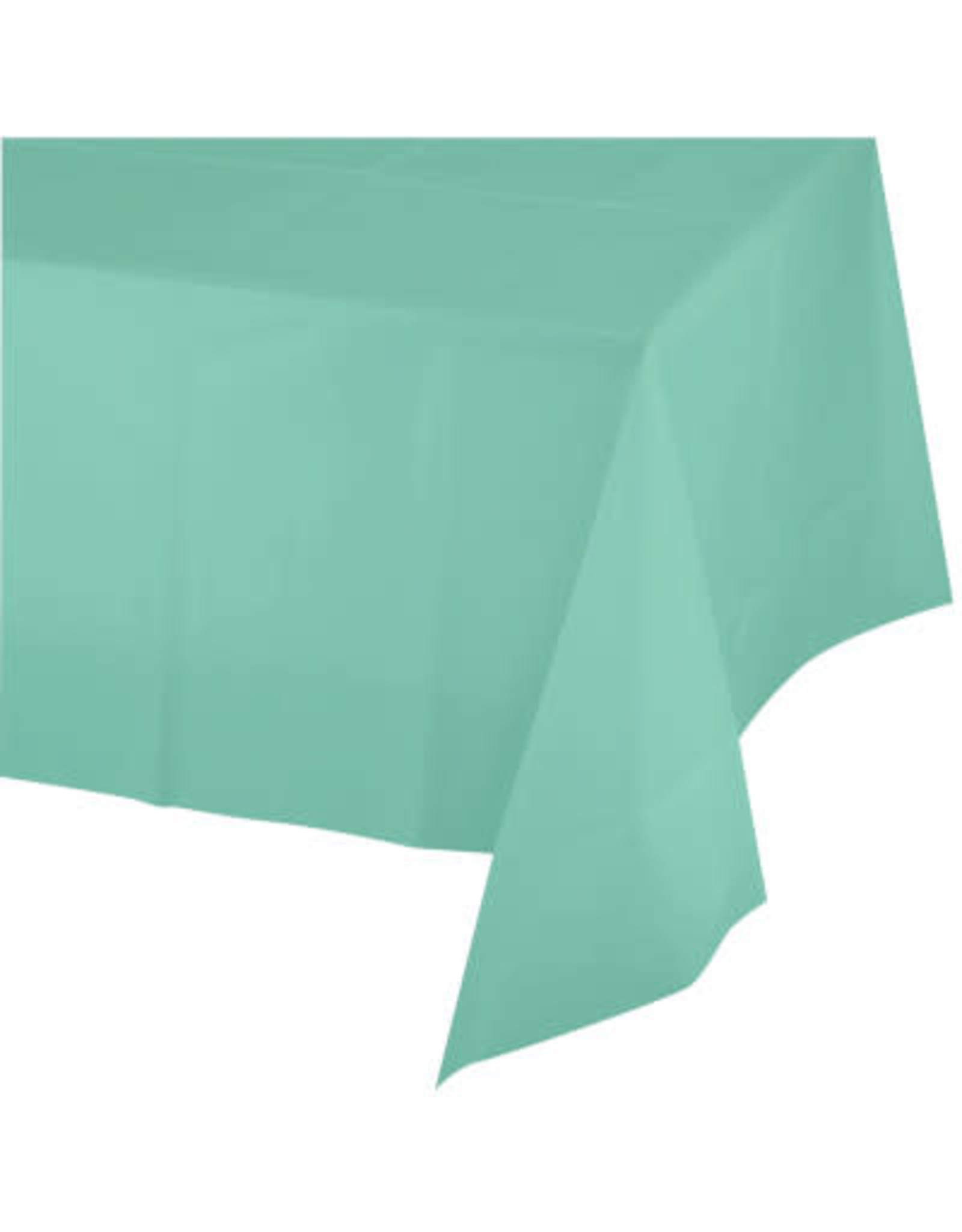 Touch of Color FRESH MINT GREEN PLASTIC TABLECLOTH