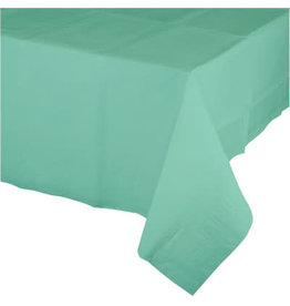 Touch of Color Fresh Mint Paper Table Cover 54in. x 108in.