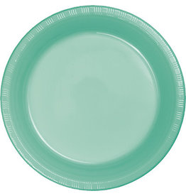 """Touch of Color Fresh Mint Green 7"""" Plastic Plates - 20ct."""
