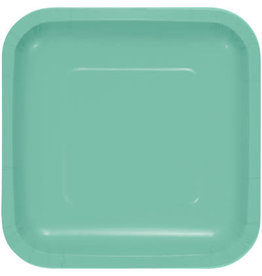 Touch of Color FRESH MINT GREEN SQUARE DESSERT PLATES