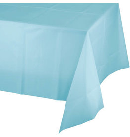 Touch of Color PASTEL BLUE PLASTIC TABLECLOTH