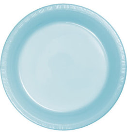 Touch of Color PASTEL BLUE PLASTIC DESSERT PLATES