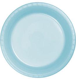 Touch of Color PASTEL BLUE PLASTIC BANQUET PLATES