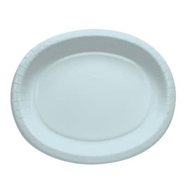 Touch of Color PASTEL BLUE OVAL PLATES