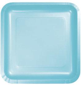 Touch of Color PASTEL BLUE SQUARE DESSERT PLATES