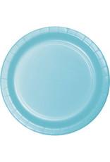 "Touch of Color 10"" Pastel Blue Paper Banquet Plates - 24ct."