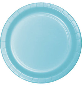 "Touch of Color 10"" Pastel Blue Paper Banquet Plate"