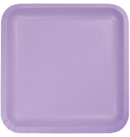 Touch of Color SQUARE LUSCIOUS LAVENDER DINNER PAPER PLATES