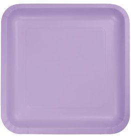 Touch of Color LUSCIOUS LAVENDER SQUARE DESSERT PLATES