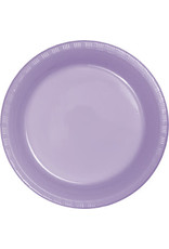 Touch of Color LUSCIOUS LAVENDER PLASTIC BANQUET PLATES