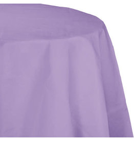 Touch of Color LUSCIOUS LAVENDER OCTY ROUND PAPER TABLECLOTH