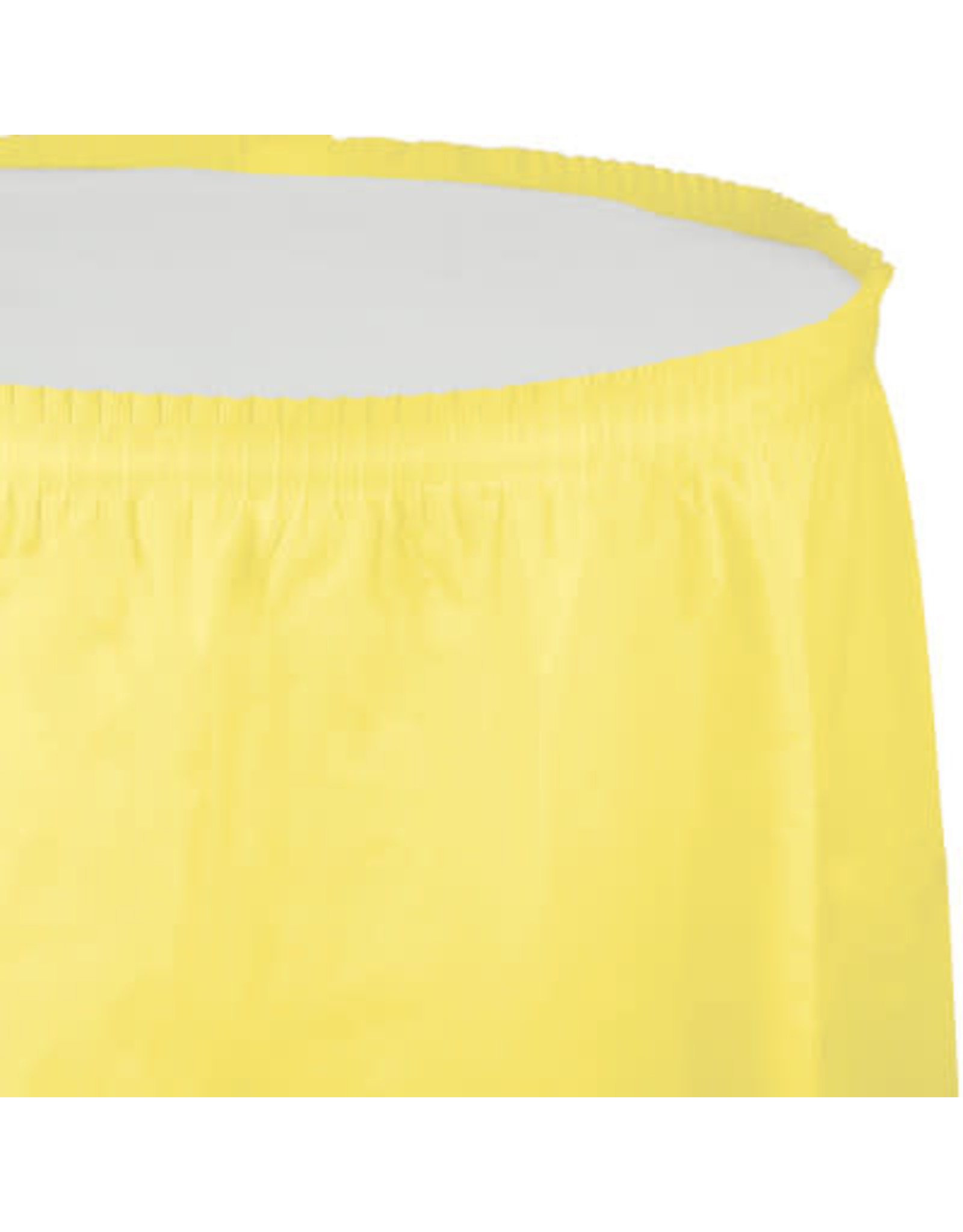 Touch of Color MIMOSA YELLOW PLASTIC TABLESKIRT