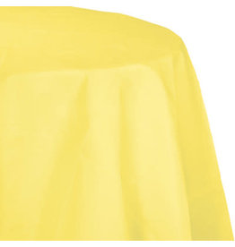 Touch of Color MIMOSA YELLOW OCTY ROUND PAPER TABLECLOTH