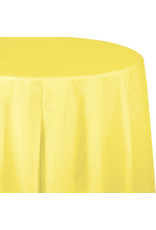 Touch of Color MIMOSA YELLOW ROUND PLASTIC TABLECLOTH