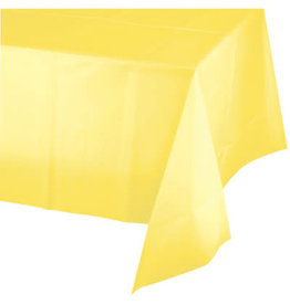 Touch of Color MIMOSA YELLOW PLASTIC TABLECLOTH