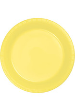 Touch of Color MIMOSA YELLOW PLASTIC BANQUET PLATES