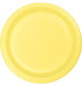 """Touch of Color 10"""" Mimosa Paper Banquet Plates - 24ct."""