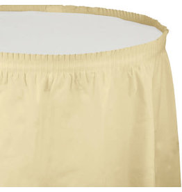 Touch of Color IVORY PLASTIC TABLESKIRT