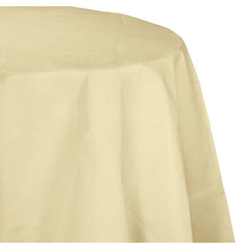 Touch of Color IVORY OCTY ROUND PAPER TABLECLOTH
