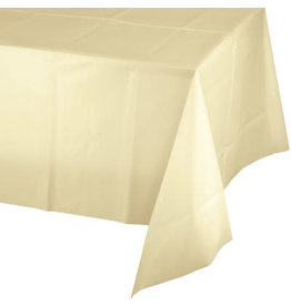 Touch of Color IVORY PLASTIC TABLECLOTH