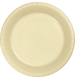 """Touch of Color Ivory 7"""" Plastic Plates - 20ct."""
