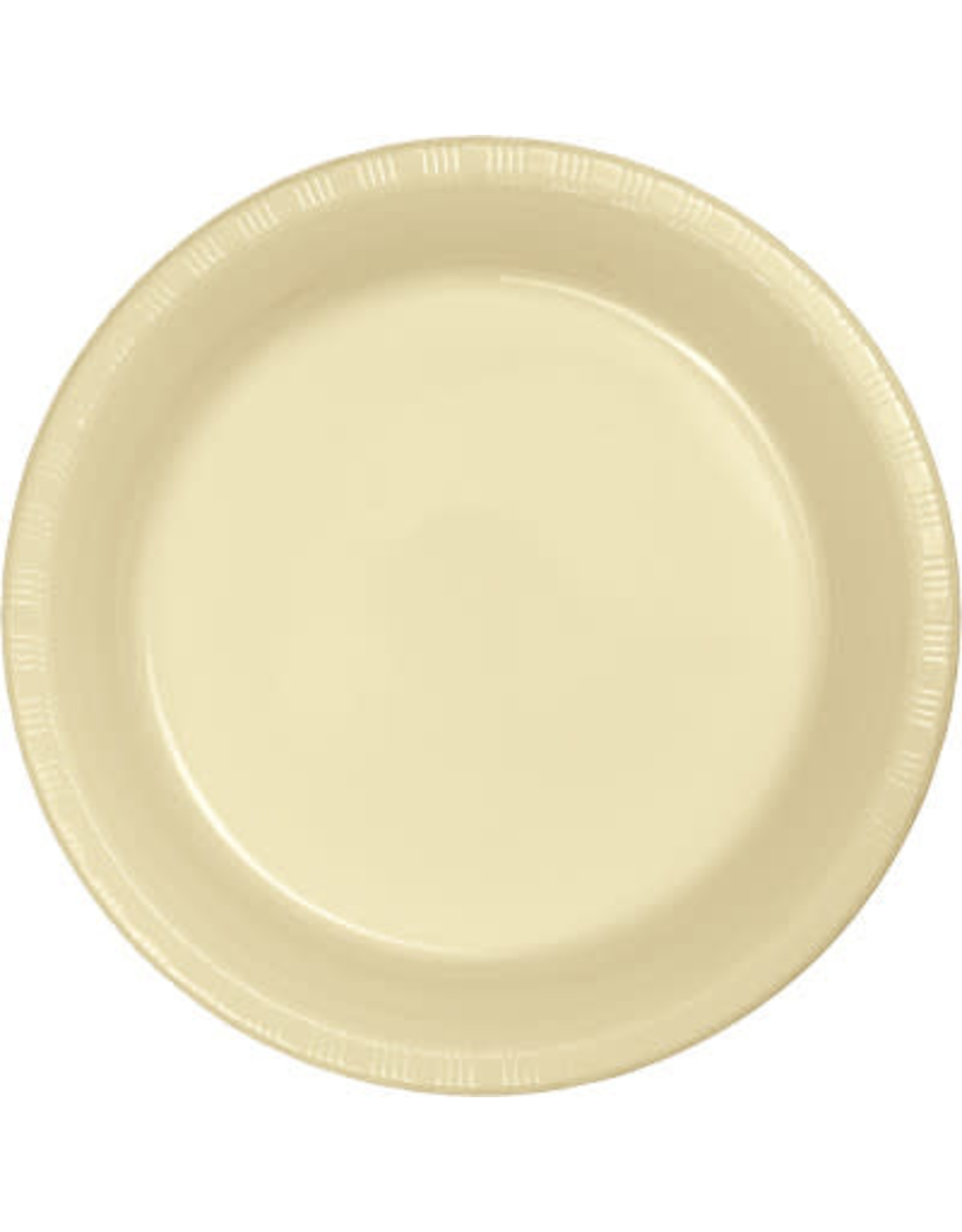 Touch of Color IVORY PLASTIC BANQUET PLATES