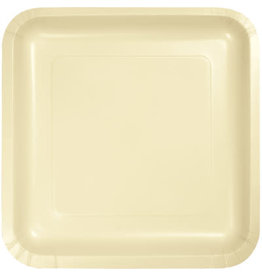 Touch of Color SQUARE IVORY DINNER PAPER PLATES