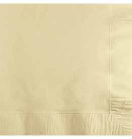 Touch of Color IVORY BEVERAGE NAPKINS
