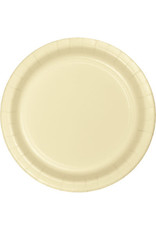 """Touch of Color 10"""" Ivory Paper Banquet Plate"""