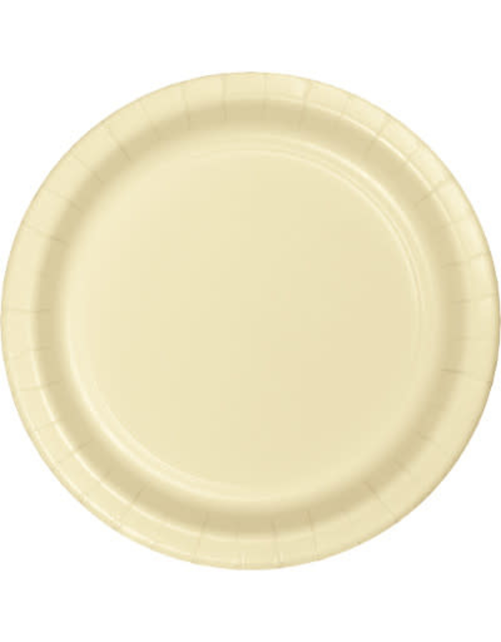 """Touch of Color 10"""" Ivory Paper Banquet Plates - 24ct."""
