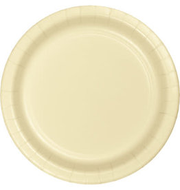 """Touch of Color 10"""" Ivory Paper Plates - 24ct."""