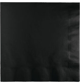 Touch of Color BLACK LUNCH NAPKINS