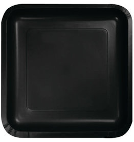 Touch of Color BLACK SQUARE DESSERT PLATES