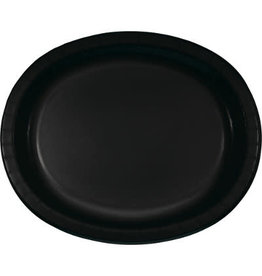 Touch of Color Black Oval Paper Plates - 8ct.