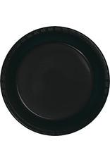 Touch of Color BLACK PLASTIC BANQUET PLATES