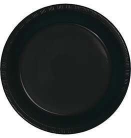 Touch of Color BLACK PLASTIC BANQUET PLATES