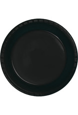 Touch of Color BLACK PLASTIC DESSERT PLATES