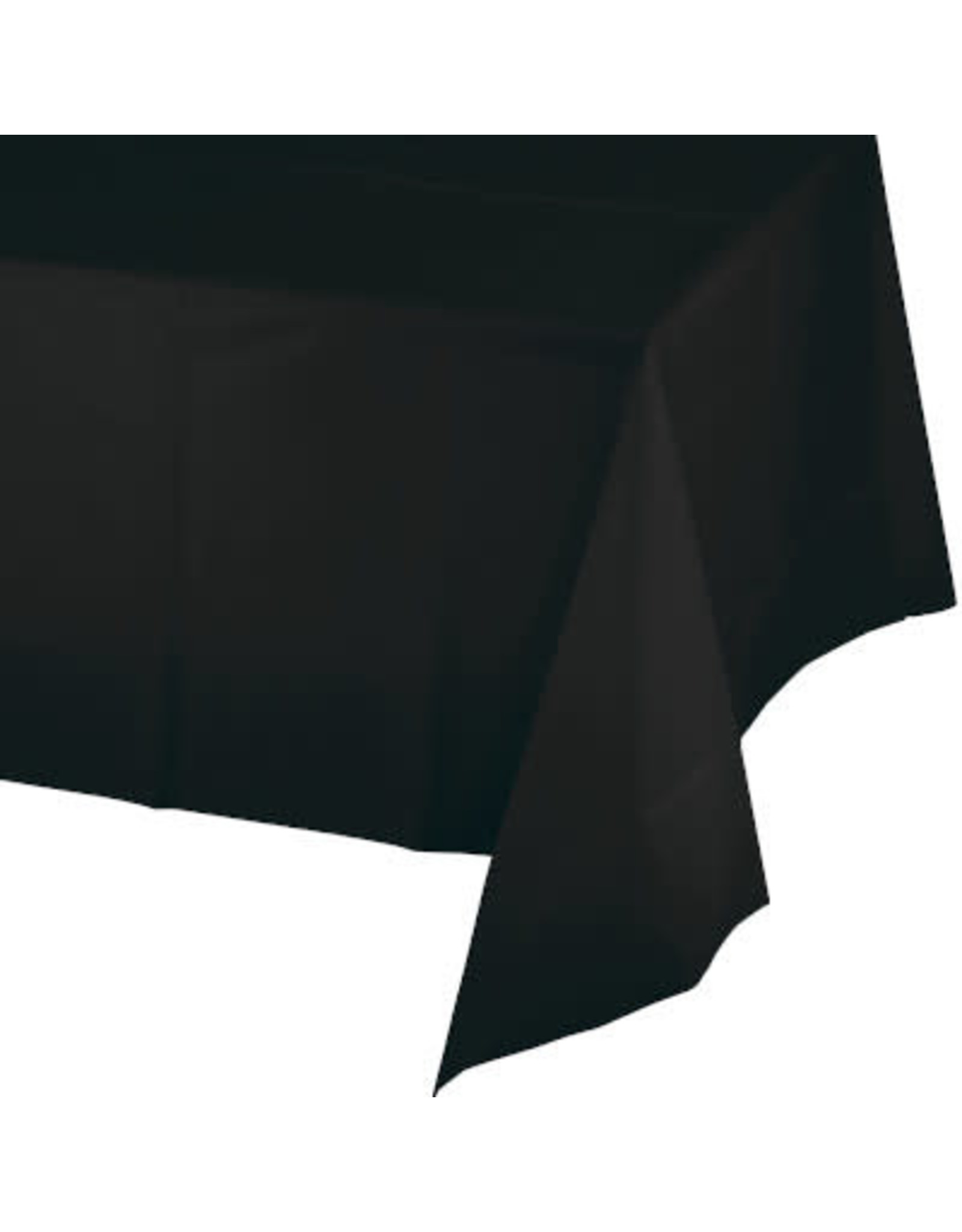 Touch of Color BLACK PLASTIC TABLECLOTH