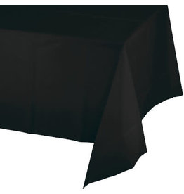 """Touch of Color Black Plastic Rectangle Tablecover - 54"""" x 108"""""""
