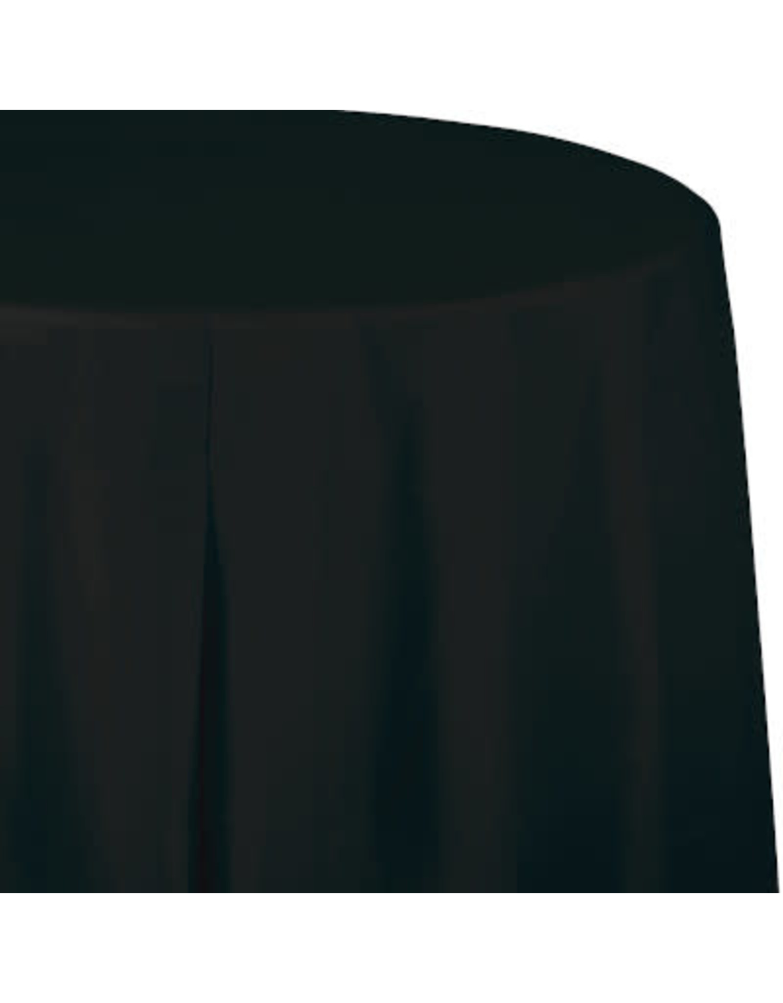 Touch of Color BLACK ROUND PLASTIC TABLECLOTH