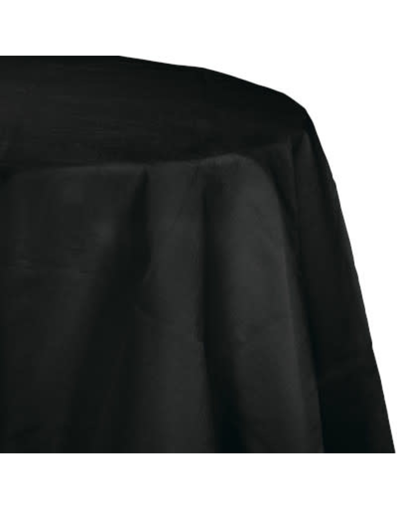 Touch of Color BLACK OCTY ROUND PAPER TABLECLOTH